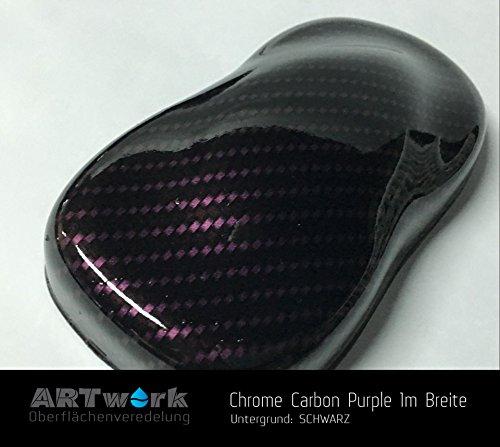 Wassertransferdruck Folie ARTwork Chrome Carbon Purple 1m Breite WELTNEUHEIT !!!