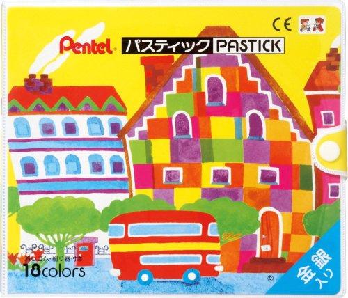 ぺんてる クレヨン色えんぴつ パスティック GC1-18D 18色