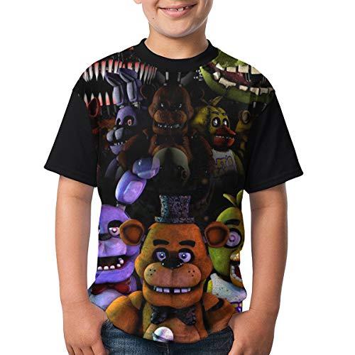 Jiaking Boys Five Nights at Freddy FNAF T-Shirts Youth Kids Polyester Short Sleeve Active Sports Top Tee Medium