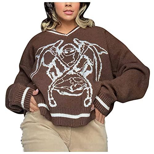 Yue668 - Camisa de mujer de lana para otoño e invierno, diseño de Grim Reaper de manga larga y sexy, de...