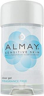 Almay Clear Gel Antiperspirant Deodorant for Women, Hypoallergenic, Dermatologist Tested for Sensitive Skin, Fragrance Fre...