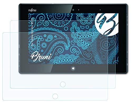 Bruni Schutzfolie kompatibel mit Fujitsu Stylistic Q572 Folie, glasklare Bildschirmschutzfolie (2X)