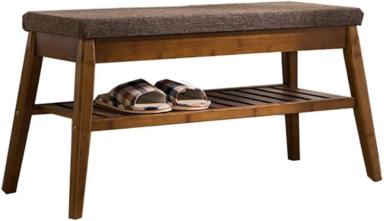 BXJ Solid Wood shoes Bench, shoes Cabinet, Storage Storage Stool, European shoes Rack. - Shelf shoes (Size   85cm)