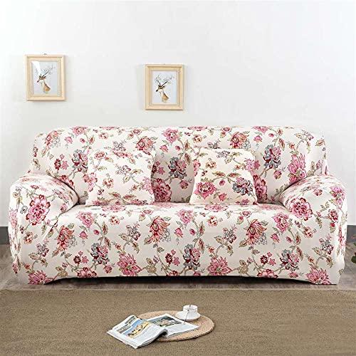 Stretch sofföverdrag 1 2 3 4-sits vattenavvisande möbelskydd soffskydd för soffa, röda blommor vår hållbar maskintvättbar glidmotstånd soffskydd, 1-sits: 90-140 cm