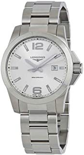 Longines Conquest Silver Dial Steel Mens 43mm Watch L37604766