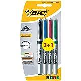 BIC Marking Ultra Fine Marcadores Punta Ultrafina - colores Surtidos, Blíster de 3+1