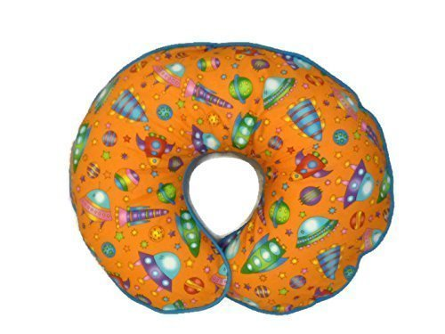 Nursing Pillow Slipcover Outer Space and Space Ship Rockets for Baby Boy or Girl Handmade