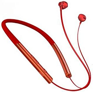 AAHDS Wireless Bluetooth Headset 5.0 Hanging Ear In-Ear Sports Running Headphones Magnetic Sweatproof Waterproof Subwoofer Universal Bluetooth 5.0 Continuous Listening Song 36 Hours (Color : Red)