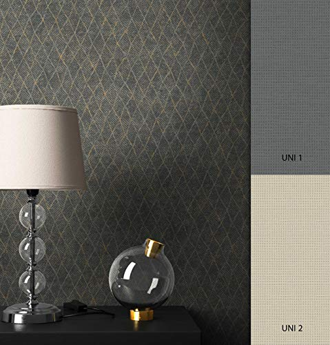 NEWROOM Tapete grafisch Gold Geometrisch Trapezformen Grafik Vliestapete schwarz Vlies Grafiktapete Modern inkl. Tapezier Ratgeber ǀ Grafik