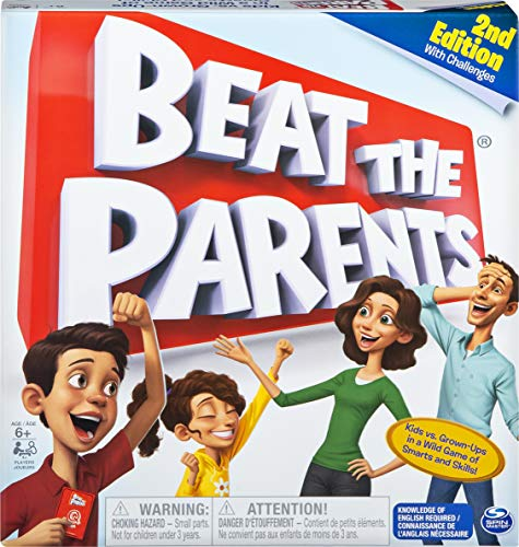 Spin Master Games Beat The Parents, Family Board Game of Kids vs. Parents with Wacky Challenges (Edition May Vary), Multicolor