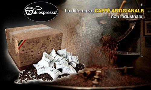 200 Cialde Capsule caffè MOKIESPRESSO Espresso compatibili NESPRESSO gusto INTENSO Gran Cru