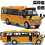 ACHICOO Autobús escolar de aleación fundido a presión grande con puertas abiertas/luces/sonido...