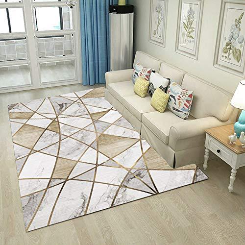 DHKJ Alfombra de Sala de Estar Patrón geométrico Abstracto Alfombra de Piso para el hogar Alfombra Alfombra de Mesa de café Alfombra Fibra de poliéster (poliéster) 140 * 200 cm