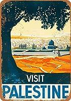 ハザードラベルアルミ金属看板訪問パレスチナAS2490鉄ポスター絵画ヴィンテージ壁の装飾カフェバーパブホームビール装飾工芸品-金属看板ヴィンテージカフェヴィンテージ金属看板