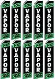 10 Swooper Flutter Flags E-CIGS VAPOR SOLD HERE Black White Green