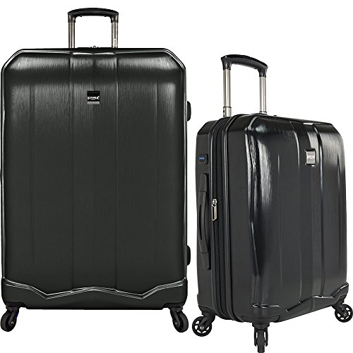 U.S. Traveler Piazza Lightweight Luggage Set 2-Piece, Black