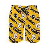 G-III Sports Pittsburgh Steelers Men's Swim Trunks,Quick Dry with...