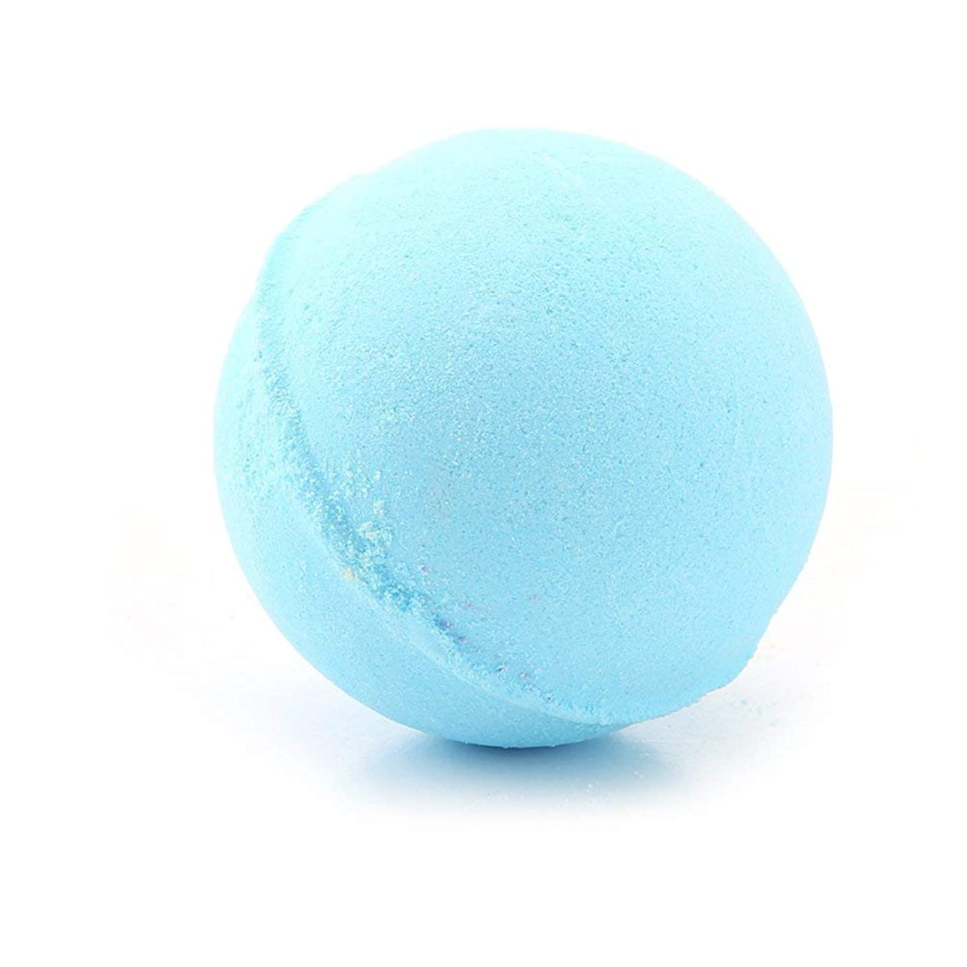 60グラム多色風呂ボールナチュラルバブルフィザー風呂爆弾ホームホテルのバスルームボディスパ誕生日プレゼント用彼女の妻のガールフレンド - ブルー