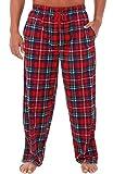 Alexander Del Rossa Men's Warm Fleece Pajama Pants, Long Lounge Bottoms, XL Red and Green Plaid (A0328Q19XL)