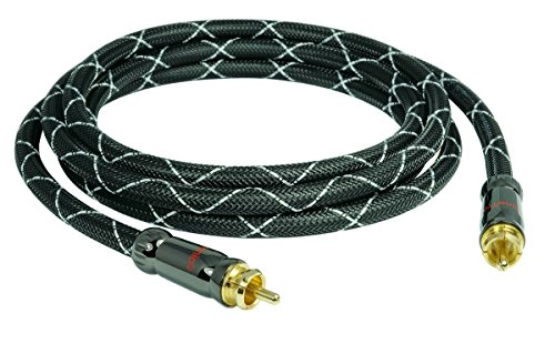 SunshineTronic BlackLine Subwoofer-Kabel, 4-fach geschirmt, 15m