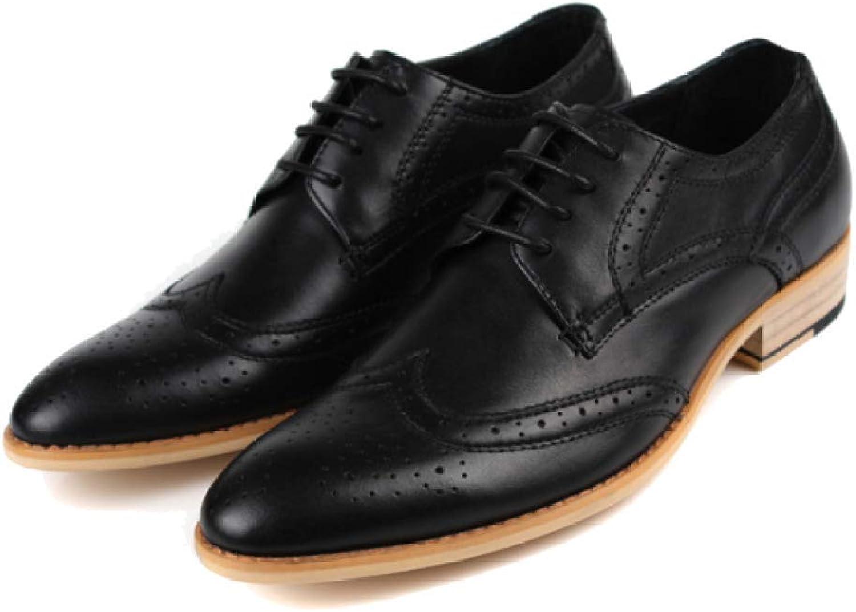 ZPEDY Lässige Herren Herren Herren Lederschuhe Schnitzen Atmungsaktive Herrenschuhe England Niedrig, Um Einzelnen Schuhen Zu Helfen B07MMZST2S  6df61f