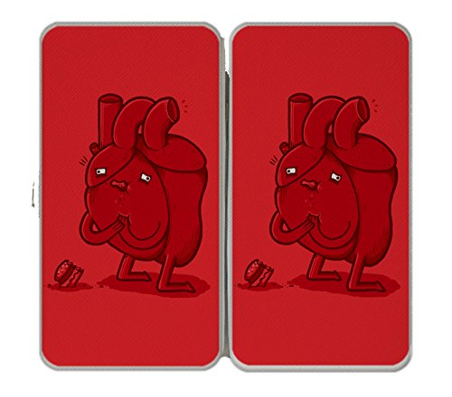 'Heart Attack' Ironic Humor - Taiga Hinge Wallet Clutch
