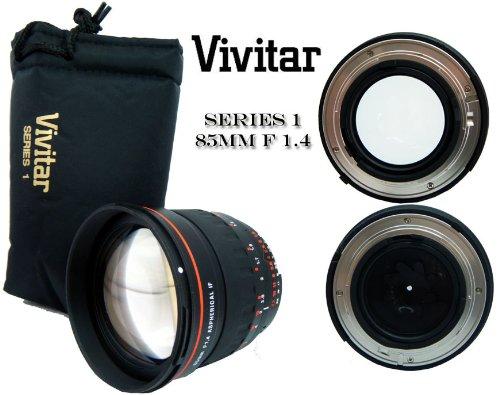 Vivitar Portrait Objektiv 85mm f/1.4 Nikon asphärisch, z.B. für Nikon D2, D2x, D2xs, D2h, D2hs, D3, D10, D40, D40x, D50, D60, D70, D70s, D80, D90, D100, D5000, D3000