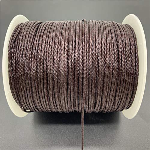 CXWK 10 Yardas/Lote0,5mm Hilo de Nailon Nudo Chino macramé Pulsera de Cuerda Trenzada DIY borlas Rebordear para Cuerda