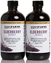 Norm's Farms Black Elderberry Extract 8 Ounce Bottle, Pack of 2