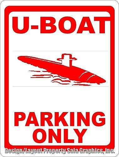 EpochSign Retro Schild 20,3 x 30,5 cm U-Boat Parking Only Schild Geschenk UBOAT U-Boot Bundeswehr Metall Blechschild