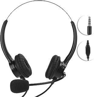 Tablet-oortelefoon, 3,5 mm headset voor mobiele telefoon Tablet-oortelefoon MIC, geluidsisolatie en weerstand tegen vermoe...