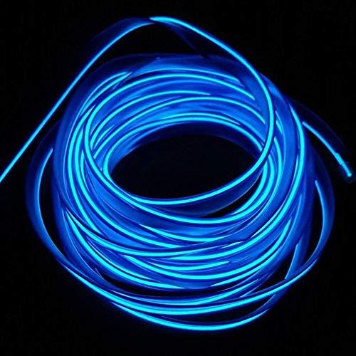 USB Neon EL Wire 5M / 16FT per Xmas Party Decoration Pub Festival Decorazione Incandescente filo elettroluminescente Luce luci fredde Stringa Striscia(Blu)