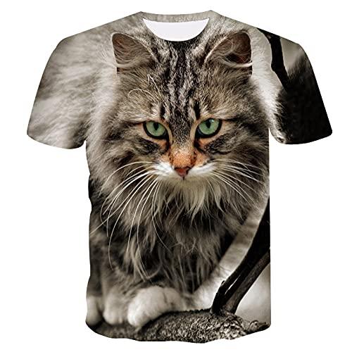 SSBZYES Camisetas De Verano Para Hombre Camisetas De Talla Grande Para Hombre Camisetas De Pareja Estampado De Gato Manga Corta Casual Camisetas Para Hombre Jersey Para Hombre Camisetas De Manga Corta