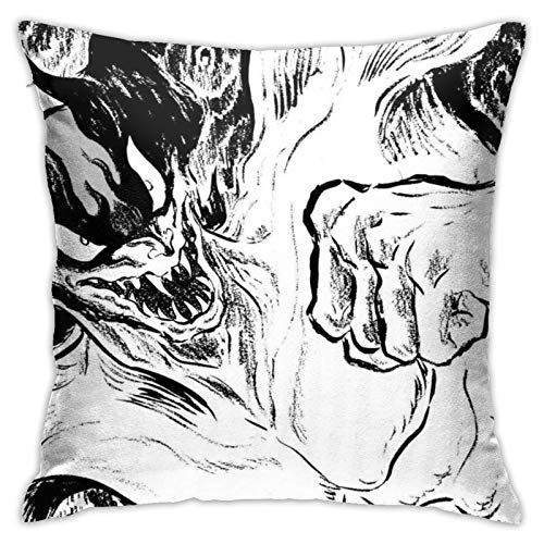 Devilman Crybaby - Funda de almohada de poliéster para sofá de mar (45,7 x 68,5 cm)