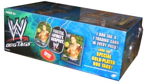 WWE Dog Tags Topps 24 Tüten mit je 1 Dog Tag und 1 Karte