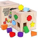 Juguete de Madera Montessori Rompecabezas de Madera de Cubo de Actividades...