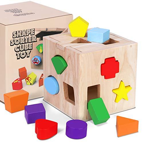 Juguete de Madera Montessori Rompecabezas de Madera de Cubo de Actividades Habilidades motoras para...