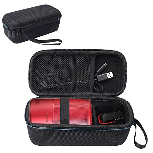 Esimen Hard Travel Case for Nebula Capsule Smart Mini Projector by Anker and Remote Control USB Flash Drive Accessories…>