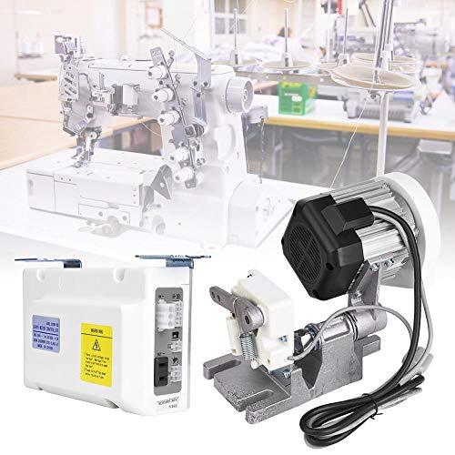 Motor de Máquina de Coser, 550W 5000Rpm 5.0N.m Servo Motor Industrial ajustable Alto Torque Motor Silencioso Sin Escobillas Ahorro de Energía con Tope Automático Aguja para Hogar Industrial(UE 220V)