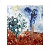 Art-Galerie Kunstdruck/Poster Marc Chagall - Die liebenden