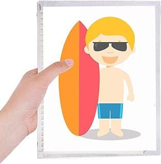 Naked Surfing Australia Cartoon Notebook Loose-leaf Spiral Refillable Journal