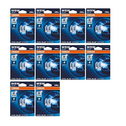 Osram 2825HCBI-02B-VS COOL Blue Intense W5W - Luces halógenas de posición para matrícula (12 V, 10 blísters dobles cada uno), color azul