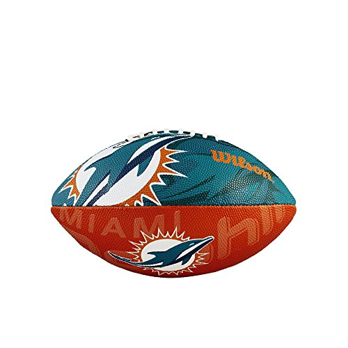 WILSON Football mit dem Logo des NFL Junior Teams, WTF1534IDMI, Miami Dolphins, Für Kinder