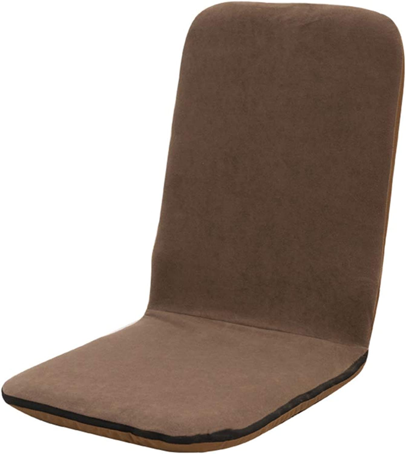 LJFYXZ Folding Lazy Sofa Chair Single Small Sofa Breathable mesh Lightweight and Portable Computer Armchair Unadjustable (color   Brown)