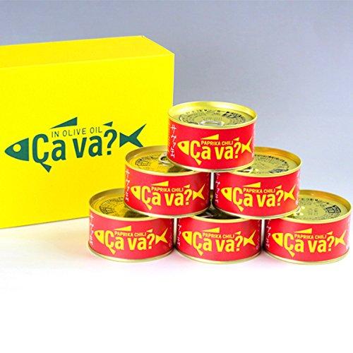 国産サバのオリーブオイル漬け サヴァ缶パプリカチリソース味セット (170g×6缶)