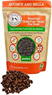 Bounce and Bella Grain Free Dog Training Treats - 800 Tasty & Healthy Treat Pack - 80% Fresh Poultry...