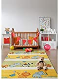 benuta Kinderteppich Noa Africa Multicolor 140x200 cm | Teppich für Spiel- und Kinderzimmer