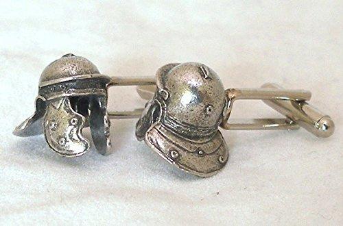 Boutons de Manchette Casque de Légionnaire Romain (avec Boîte à Cadeau)