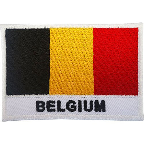 Belgien Flagge Patch Iron On/Sew On Badge Fußball T Shirt bestickte Applikation