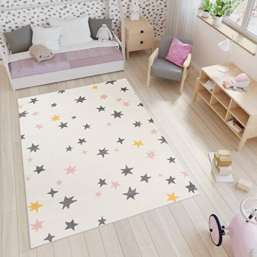 Alfombra de los ni/ños alfombra de juegos conejito rosa gris crema Gr/ö/ße 80x150 cm